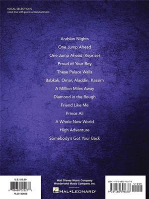 Alan Menken: Aladdin ? Broadway Musical Vocal Selections: Vocal