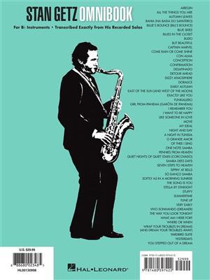Stan Getz - Omnibook: B-Flat Instrument