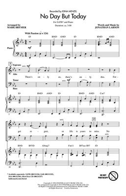 Jonathan Larson: No Day But Today: Arr. (Mark Brymer): SATB