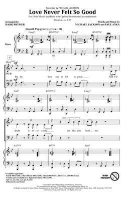 Michael Jackson: Love Never Felt So Good: Mixed Choir