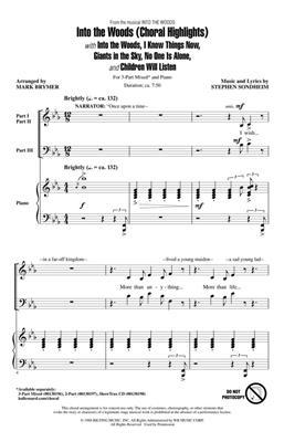 Stephen Sondheim: Into the Woods: Arr. (Mark Brymer): 3-Part Choir