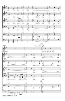 Dinah Washington: Never Let Me Go: Arr. (Paris Rutherford): SATB