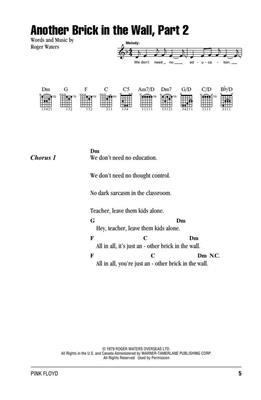 Pink Floyd: Pink Floyd - Guitar Chord Songbook: Guitar or Lute