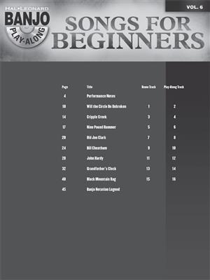 Songs for Beginners: Banjo or Mandolin