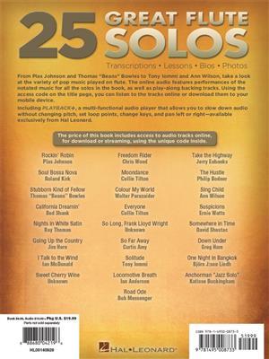 Eric J. Morones: 25 Great Flute Solos: Flute