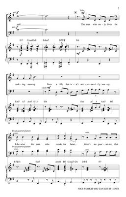 George Gershwin: Nice Work If You Can Get It: Arr. (Mark Brymer): SATB