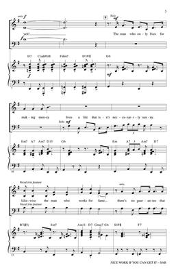 George Gershwin: Nice Work If You Can Get It: Mixed Choir