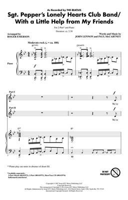 John Lennon: Sgt. Pepper's Lonely Hearts Club Band: Arr. (Roger Emerson): 2-Part Choir