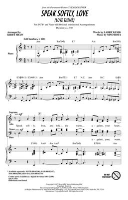 Speak Softly Love: Arr. (Kirby Shaw): SATB