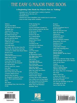 The Easy G Major Fake Book: Melody, Lyrics & Chords