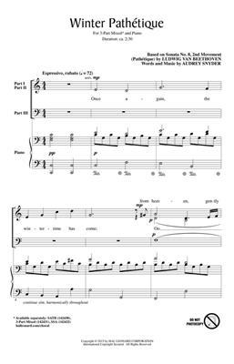 Audrey Snyder: Winter Pathétique: 3-Part Choir