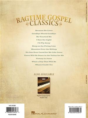 Ragtime Gospel Classics: Arr. (Steven K. Tedesco): Piano