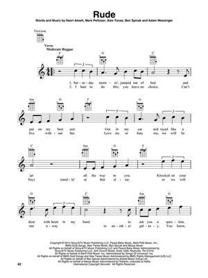 Chart hits of 2014-2015 for ukelele: Ukulele