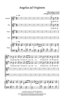 Angelus ad Virginem: Arr. (Philip Lawson): SATB