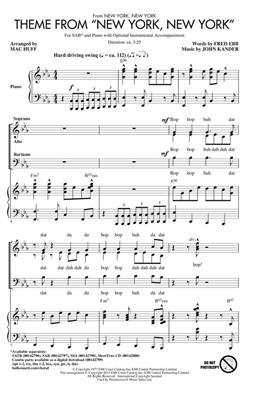 Frank Sinatra: Theme from New York, New York: Mixed Choir