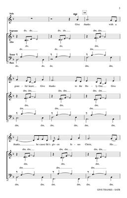 Henry Smith: Give Thanks: Arr. (David Angerman): SATB