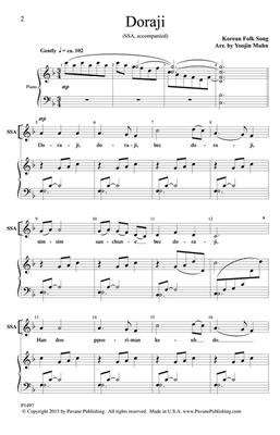 Traditional: Doraji: Arr. (Yoojin Muhn): Upper Voices a Cappella