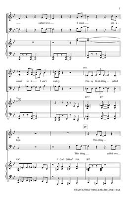 Queen: Crazy Little Thing Called Love: Mixed Choir