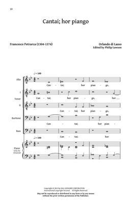 Orlando di  Lasso: Five Italian Madrigals: Arr. (Philip Lawson): SATB
