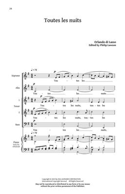 Orlando di  Lasso: Five French Madrigals: Mixed Choir