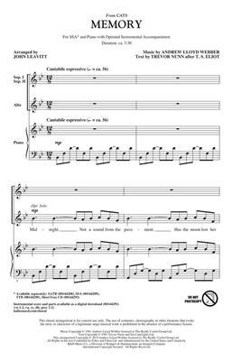 Andrew Lloyd Webber: Memory: Arr. (John Leavitt): SSA