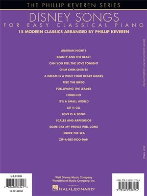 Phillip Keveren: Disney Songs for Easy Classical Piano: Piano or Keyboard