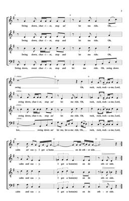 Swing Down, Chariot: Arr. (Stacey V. Gibbs): SATB