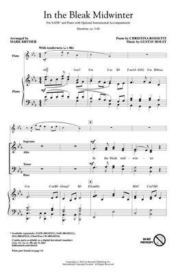 Christina Rosetti: In the Bleak Midwinter: Arr. (Mark Brymer): SATB