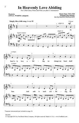 Traditional: In Heavenly Love Abiding: Arr. (Glenn Wonacott): 2-Part Choir