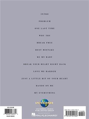 Ariana Grande: Ariana Grande - My Everything: Piano, Vocal and Guitar (songbooks)