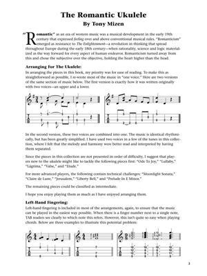 The Romantic Ukulele: Arr. (Tony Mizen): Ukulele
