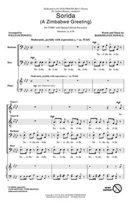 Rosephanye Powell: Sorida - A Zimbabwe Greeting: Arr. (William Powell): Lower Voices a Cappella