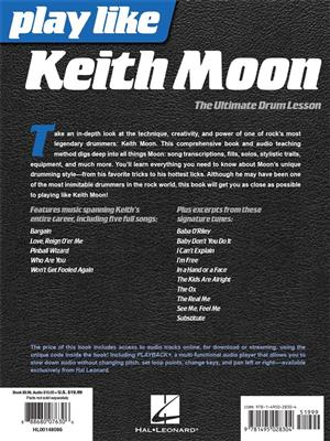 Keith Moon: Play like Keith Moon: Drums and Percussion