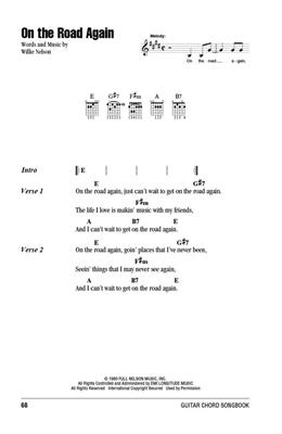 Willie Nelson - Guitar Chord Songbook: Guitar or Lute