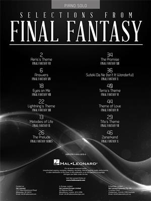 Selections from Final Fantasy: Piano or Keyboard