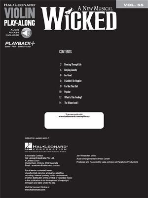 Stephen Schwartz: Wicked: Violin