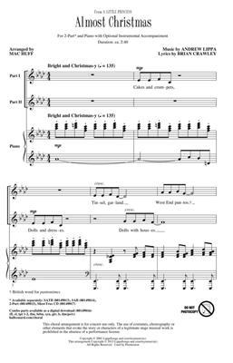 Andrew Lippa: Almost Christmas: Arr. (Mac Huff): 2-Part Choir