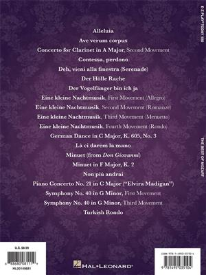 Wolfgang Amadeus Mozart: The Best of Mozart: Piano or Keyboard