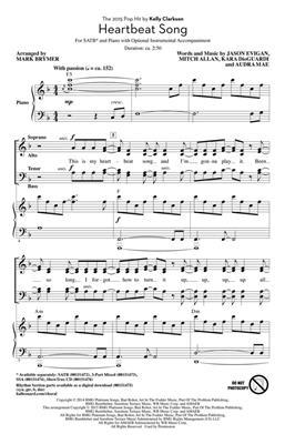 Kelly Clarkson: Heartbeat Song: Mixed Choir