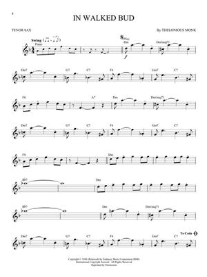 Jazz Classics - Tenor Saxophone: Saxophone
