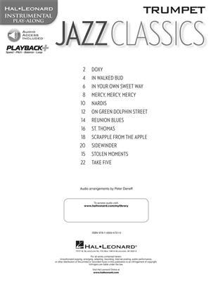 Jazz Classics - Trumpet: Trumpet, Cornet or Flugelhorn