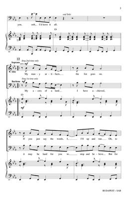 George Ezra: Budapest: Mixed Choir
