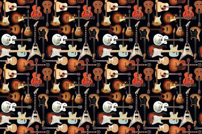 Hal Leonard Wrapping Paper - Guitar Collage Theme: Gifts