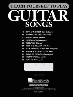 Smoke on the Water and 9 More Hard Rock Classics: Guitar or Lute
