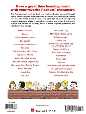 Vince Guaraldi: The Peanuts Music Activity Book: Musical Education