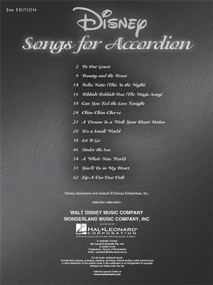 Disney Songs for Accordion - 3rd Edition: Accordion