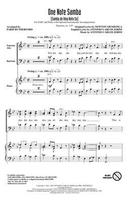 Paris Rutherford: One Note Samba: Mixed Choir