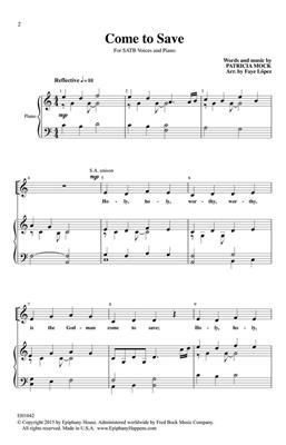 Patricia Mock: Come To Save: Arr. (Faye López): SATB