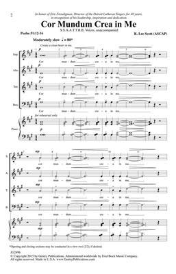 K. Lee Scott: Cor Mundum Crea In Me: Double Choir