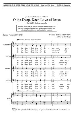 Johannes Brahms: O the Deep, Deep Love of Jesus: SATB